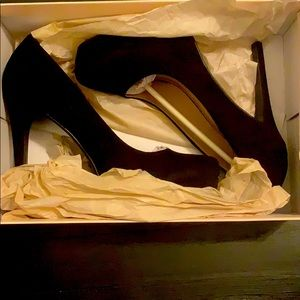 Matte Black High Heels